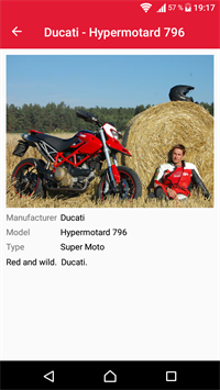 Android - profil - motorky